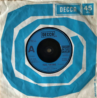 "Adam And The Ants - Young Parisians (7"") (VG-/G+)"